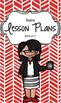 Lesson Plan Book & Planner {Black Hair & Glasses: Red Herr