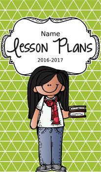 Lesson Plan Book & Planner {Black Hair: Green Triangles}