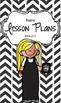 Lesson Plan Book & Planner {Blonde Hair: Black Herringbone}