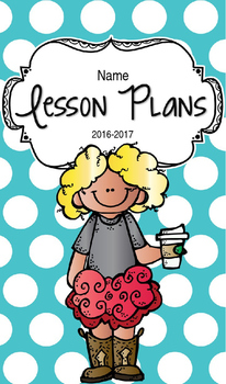 Lesson Plan Book & Planner {Blonde Hair: Blue Polka Dot}