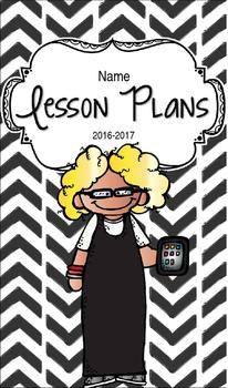 Lesson Plan Book & Planner {Blonde Hair & Glasses: Black Herringbone}