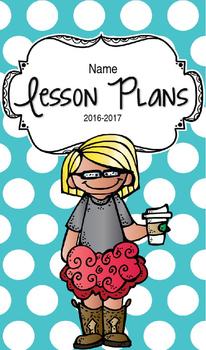 Lesson Plan Book & Planner {Blonde Hair & Glasses: Blue Polka Dot}