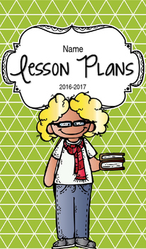 Lesson Plan Book & Planner {Blonde Hair & Glasses: Green Triangles}