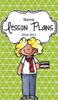 Lesson Plan Book & Planner {Blonde Hair: Green Triangles}