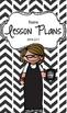 Lesson Plan Book & Planner {Brown Hair & Glasses: Black He