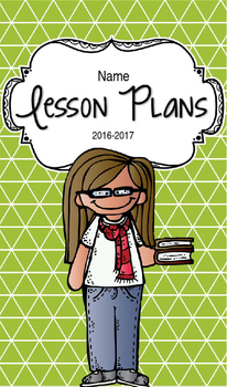 Lesson Plan Book & Planner {Brown Hair & Glasses: Green Triangles}