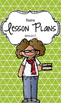 Lesson Plan Book & Planner {Brown Hair & Glasses: Green Tr