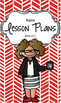 Lesson Plan Book & Planner {Brown Hair & Glasses: Red Herr
