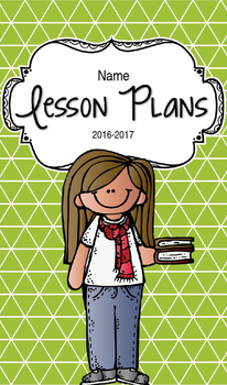 Lesson Plan Book & Planner {Brown Hair: Green Triangles}