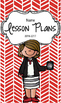 Lesson Plan Book & Planner {Brown hair: Red Herringbone}