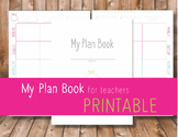 Lesson Plan Book Printable PDF