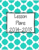 Lesson Plan Template (Teal & Gray)