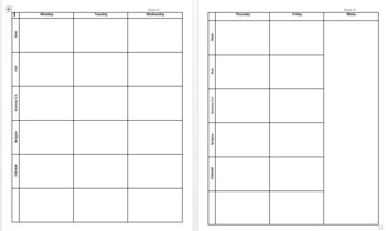 lesson plan book template lesson plan book template