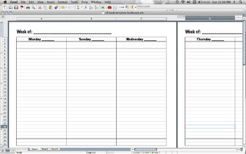 lesson plan book template landscape by gretchen andrews tpt