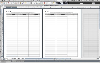 Lesson Plan Book Template (portrait)