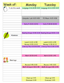 Lesson Plan Book Weekly Template (Editable)