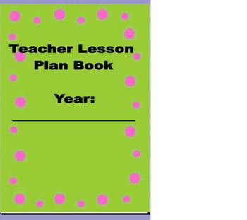 Lesson Plan Book for Teachers Free