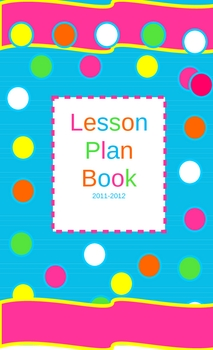 Lesson Plan Book with Dots on Turquoise