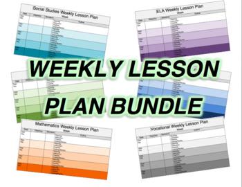 Lesson Plan Bundle