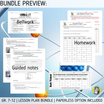 Lesson Plan Bundle: Atomic Structure