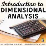 Lesson Plan Bundle: Dimensional Analysis - Notes, HWs, Warm Ups, and Test