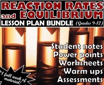 Lesson Plan Bundle: Reaction Rates and Equilibrium
