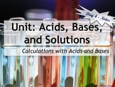 Lesson Plan: Calculations with Acids and Bases