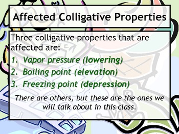Lesson Plan: Calculations with Colligative Properties