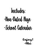 Lesson Plan Calendar Blank 2019-2020
