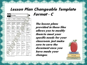 Lesson Plan Changeable Template - Format C