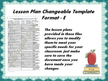 Lesson Plan Changeable Template - Format E