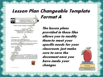 Lesson Plan Changeable Templates-Complete Set