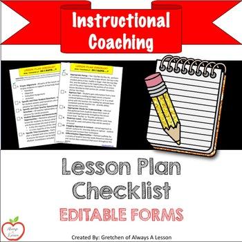 Instructional Coaching: Lesson Plan Checklist