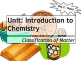 Lesson Plan: Classification of Matter - Notes, Power Point, Homework, Warm Up