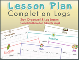 Lesson Plan Completion Log - Based on Subjects