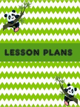 Lesson Plan Cover Binder (Panda Theme)