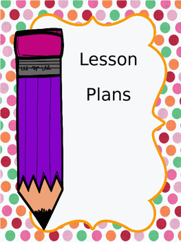 Lesson Plan Cover Page