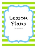 2014-2015 Lesson Plan Cover Pages for Binders: Modern & Classic Designs