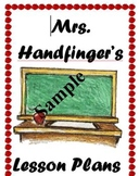 Lesson Plan Cover Sheet For Binder