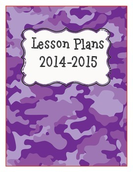 Lesson Plan Cover and Divider Pages-editable