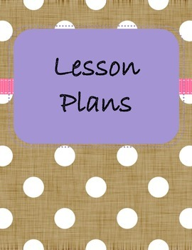 Lesson Plan Covers 2- Polka Dots
