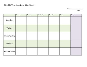 Lesson Plan (Editable)