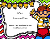 Lesson Plan Editable