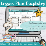 Lesson Plan Editable Template - Cycle 3