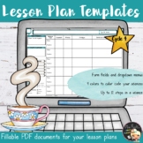 Lesson Plan Editable Template - Cycle 4 (classes)