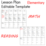 Lesson Plans Editable Template Elementary