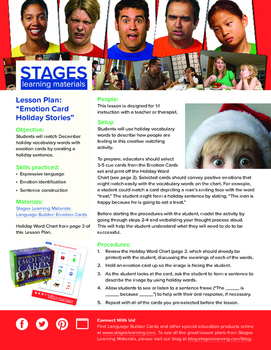 "Lesson Plan: ""Emotion Card Holiday Stories"""