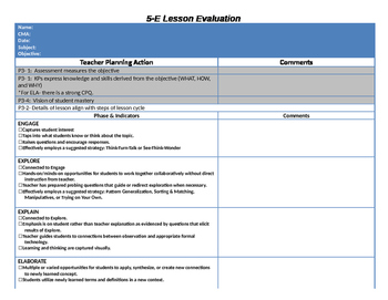 Lesson Plan Evaluation Tool