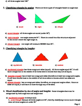 Lesson Plan  Everything You Ever Wanted To Know About Triangles