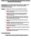 Lesson Plan & Exam/Worksheet:  Mean Median, Mode, Range, Sampling